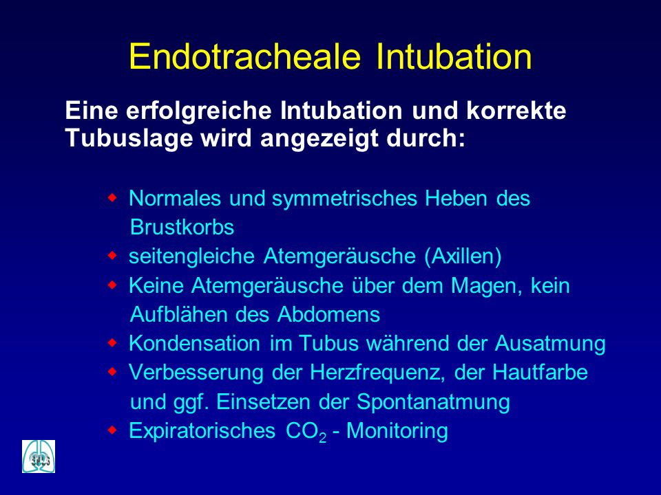 Endotracheale Intubation
