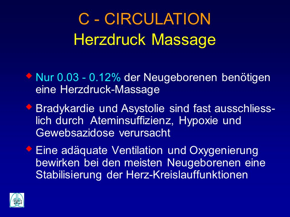 C - CIRCULATION Herzdruck Massage