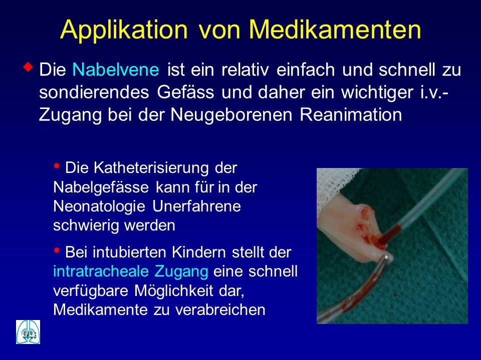 Applikation von Medikamenten