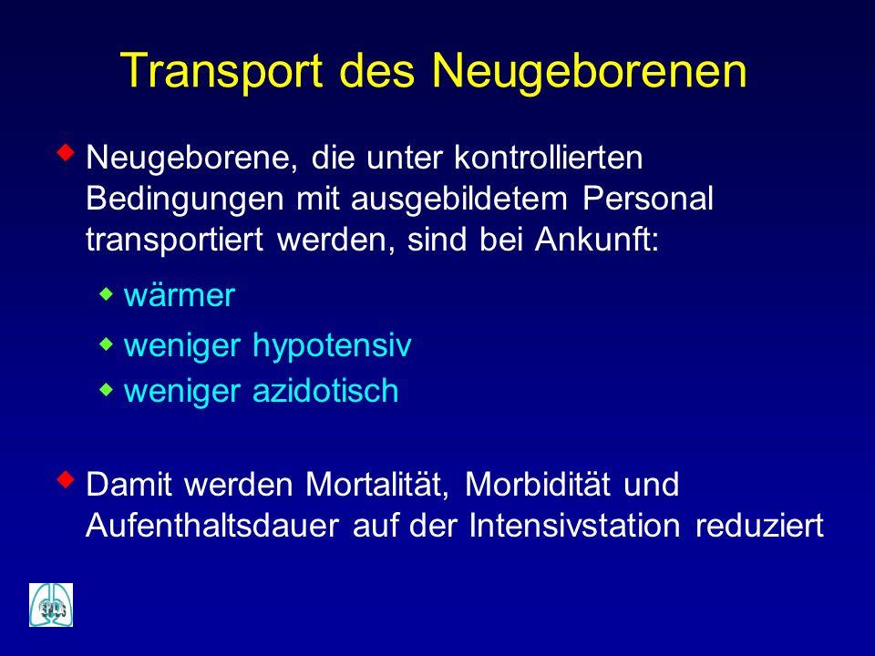 Transport des Neugeborenen