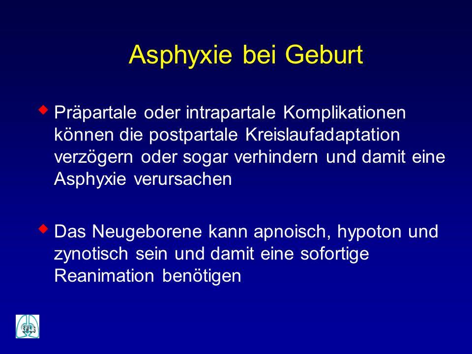 Asphyxie bei Geburt