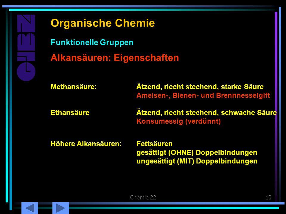 Carbonsäuren: Eigenschaften