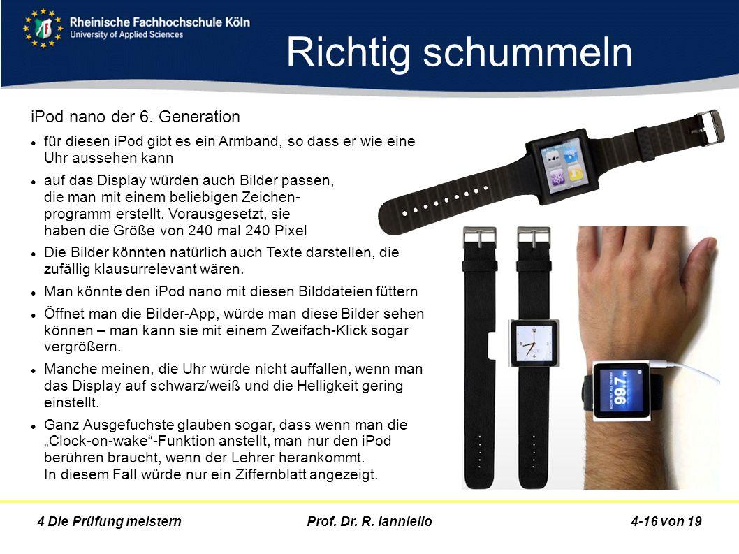 Richtig schummeln iPod nano der 6. Generation