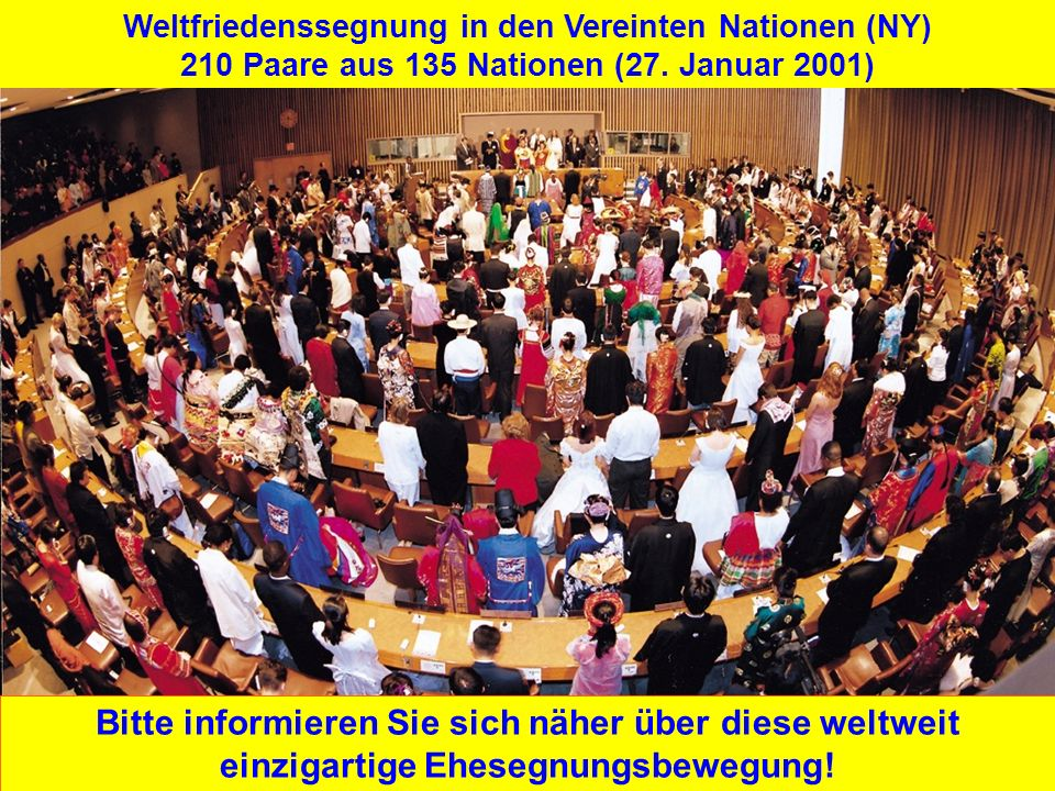 Weltfriedenssegnung in den Vereinten Nationen (NY)
