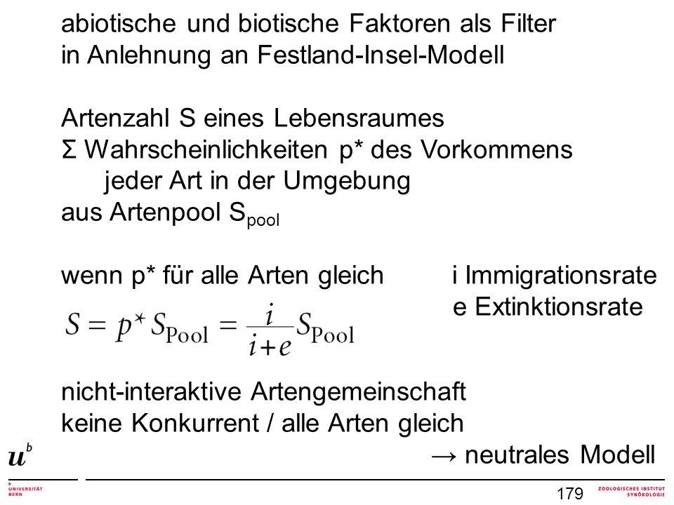 abiotische und biotische Faktoren als Filter