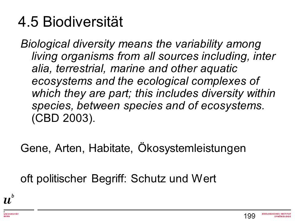 4.5 Biodiversität