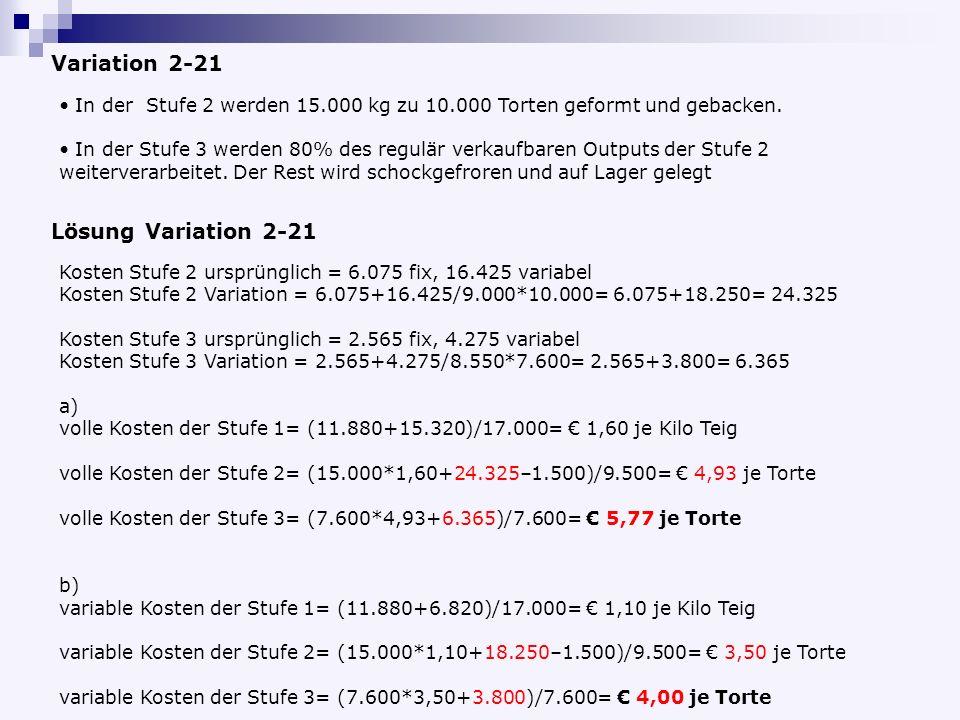 Variation 2-21 Lösung Variation 2-21