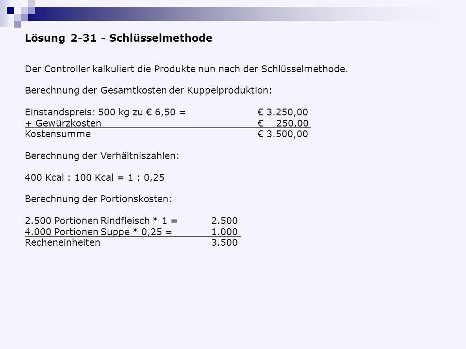Lösung 2-31 - Schlüsselmethode