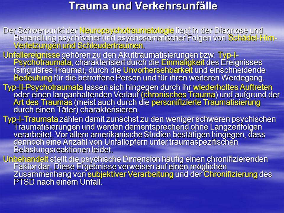 Trauma und Verkehrsunfälle