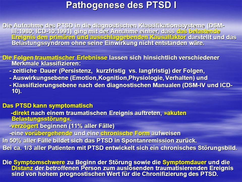 Pathogenese des PTSD I