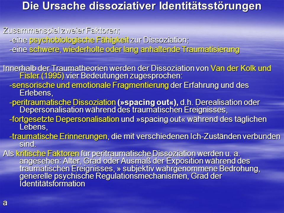 Die Ursache dissoziativer Identitätsstörungen