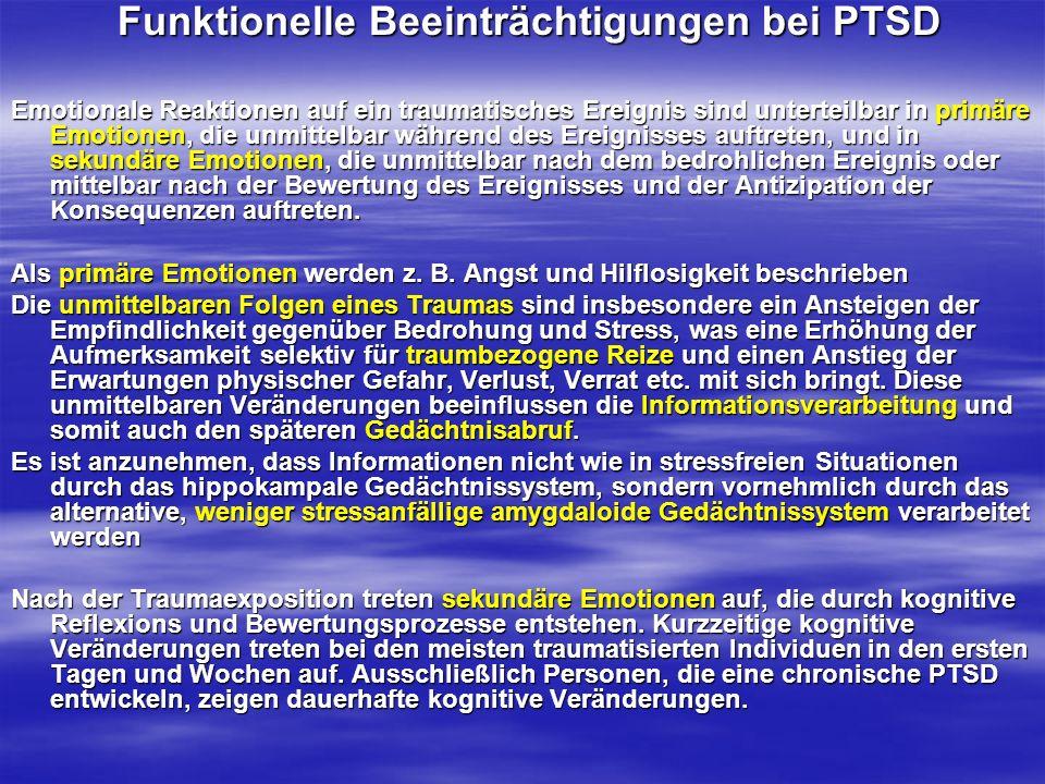 Funktionelle Beeinträchtigungen bei PTSD