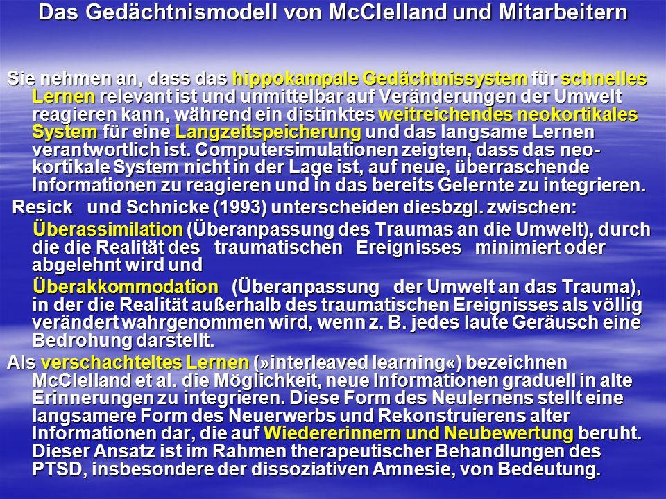 Das Gedächtnismodell von McClelland und Mitarbeitern