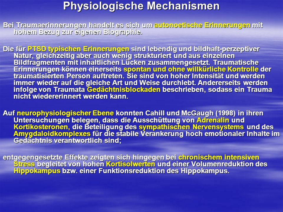 Physiologische Mechanismen