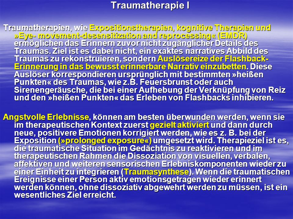Traumatherapie I