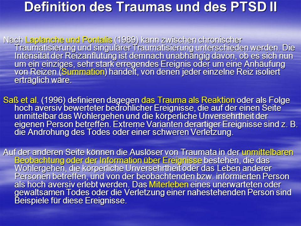 Definition des Traumas und des PTSD II