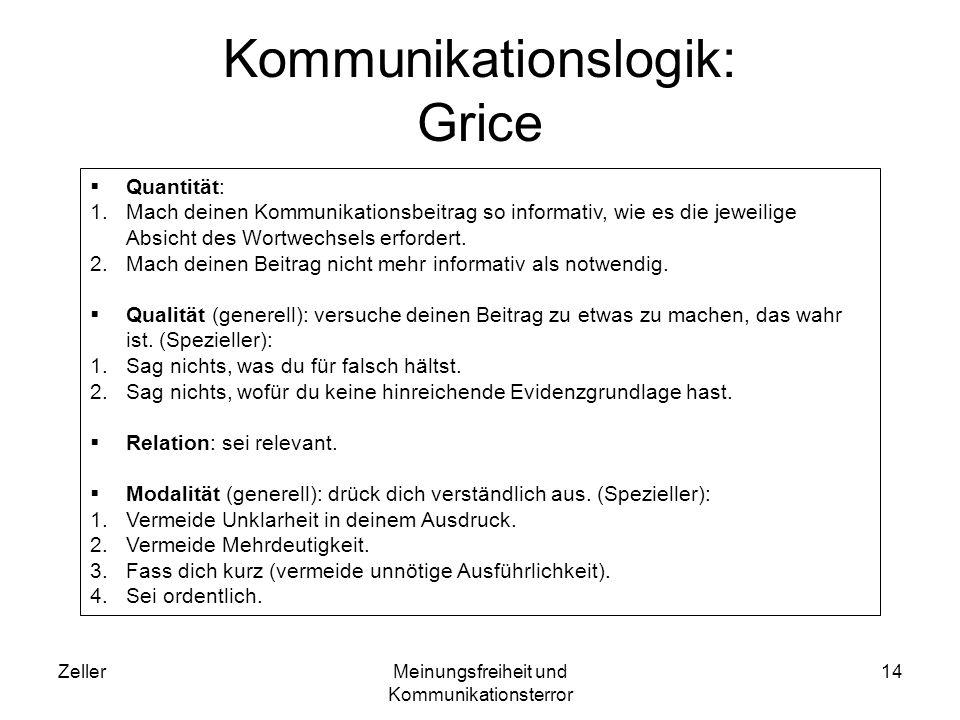 Kommunikationslogik: Grice