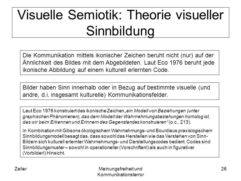 Visuelle Semiotik: Theorie visueller Sinnbildung