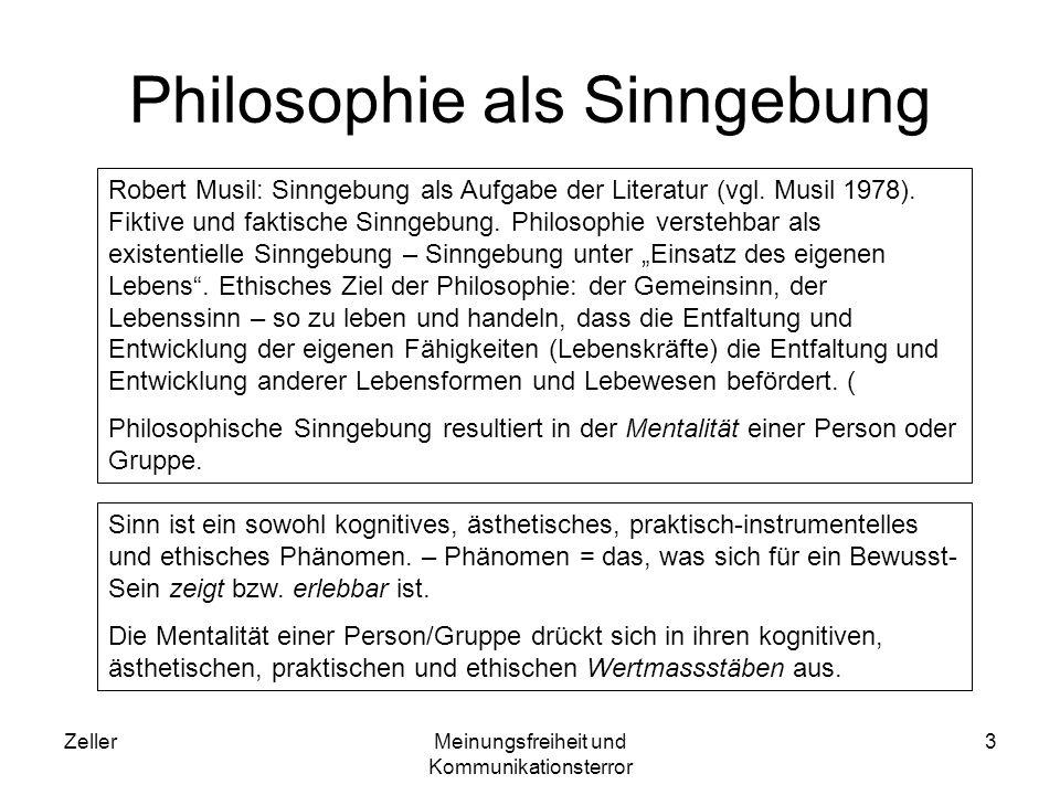 Philosophie als Sinngebung