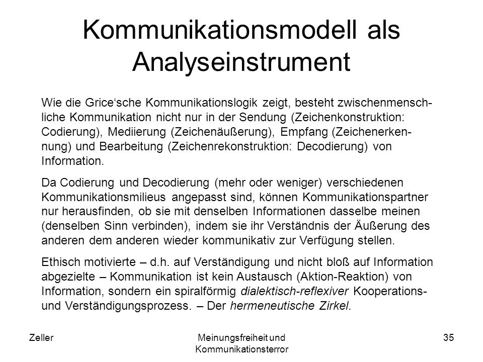 Kommunikationsmodell als Analyseinstrument