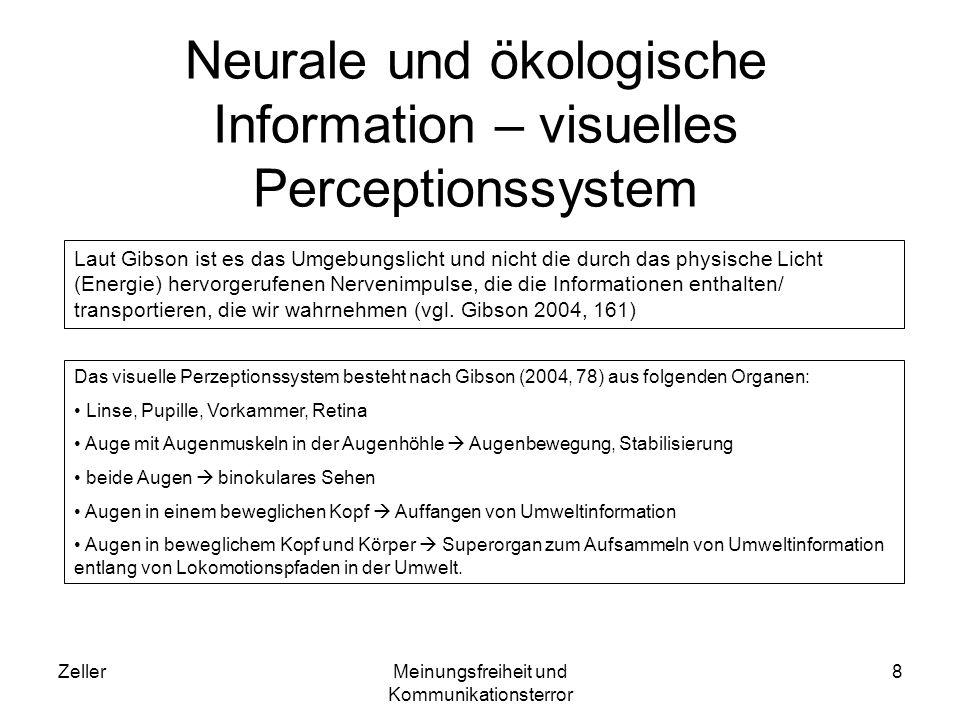 Neurale und ökologische Information – visuelles Perceptionssystem