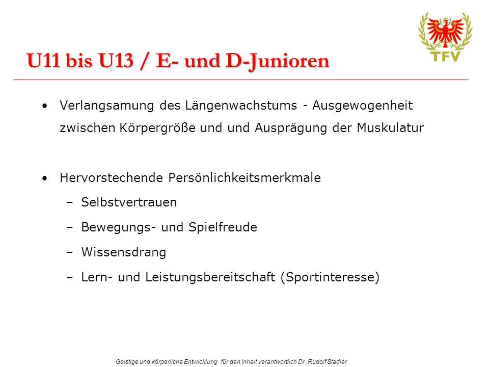 U11 bis U13 / E- und D-Junioren