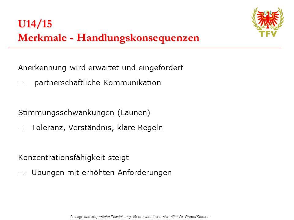 U14/15 Merkmale - Handlungskonsequenzen