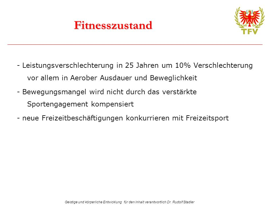 Fitnesszustand