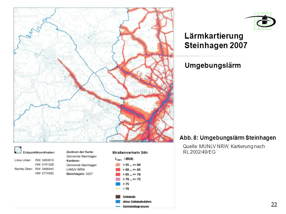 Lärmkartierung Steinhagen 2007
