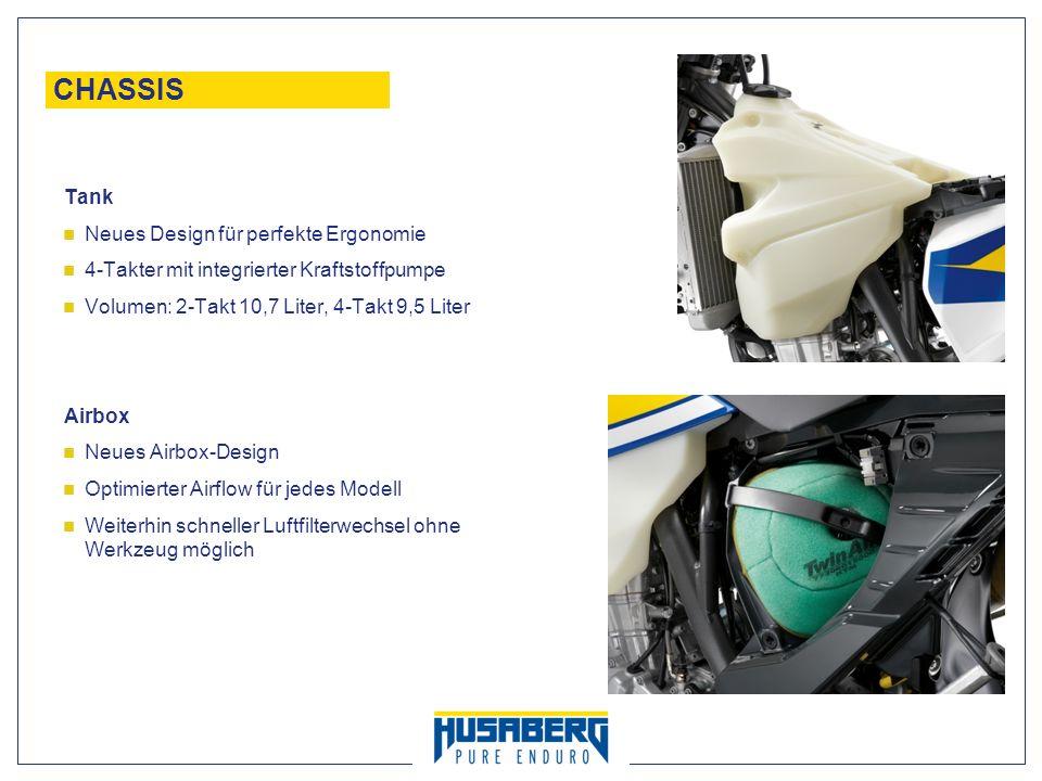 CHASSIS Tank Neues Design für perfekte Ergonomie