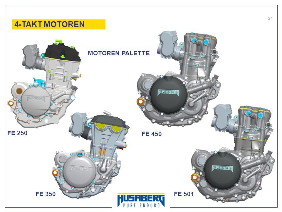 4-TAKT MOTOREN MOTOREN PALETTE FE 250 FE 450 FE 350 FE 501 27