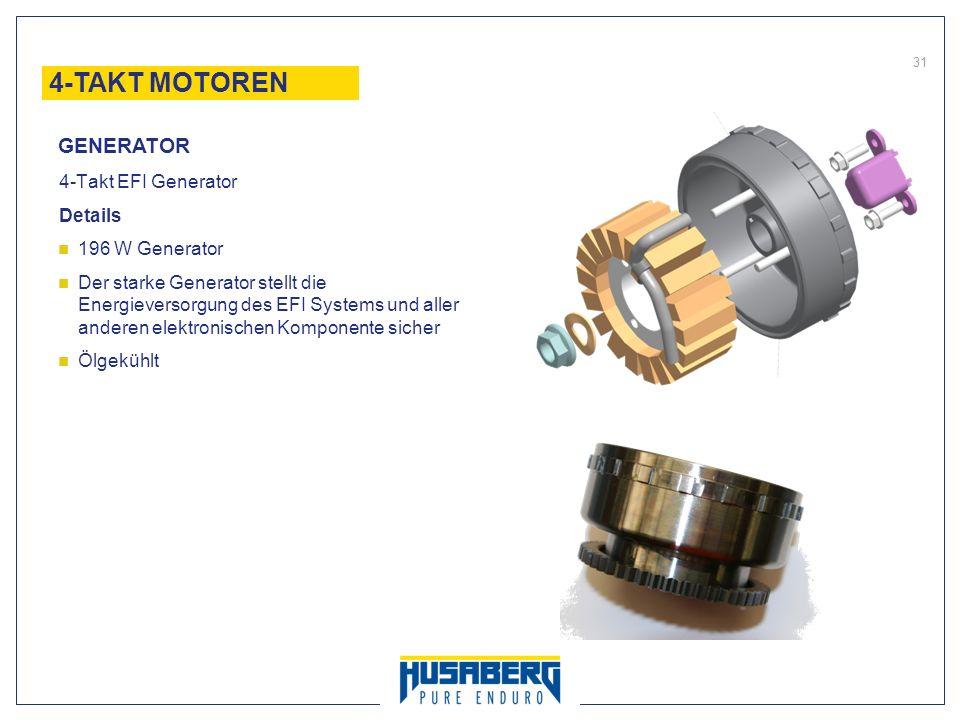 4-TAKT MOTOREN GENERATOR 4-Takt EFI Generator Details 196 W Generator
