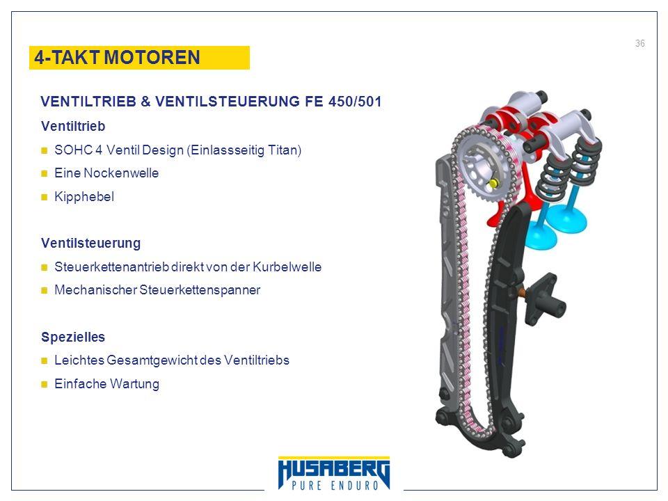 4-TAKT MOTOREN VENTILTRIEB & VENTILSTEUERUNG FE 450/501 Ventiltrieb