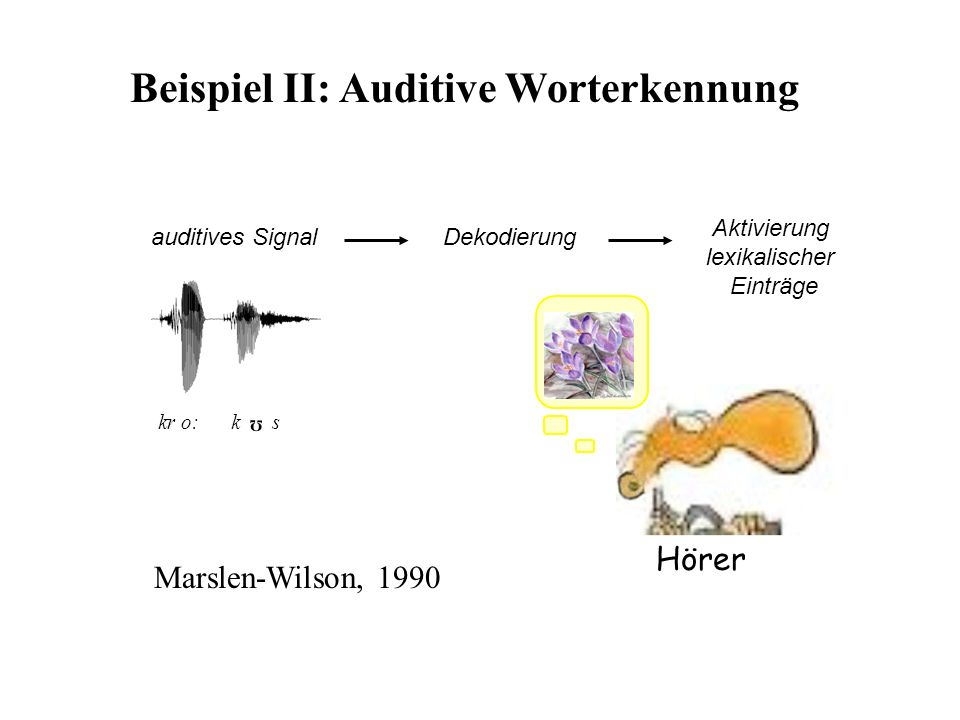 Beispiel II: Auditive Worterkennung
