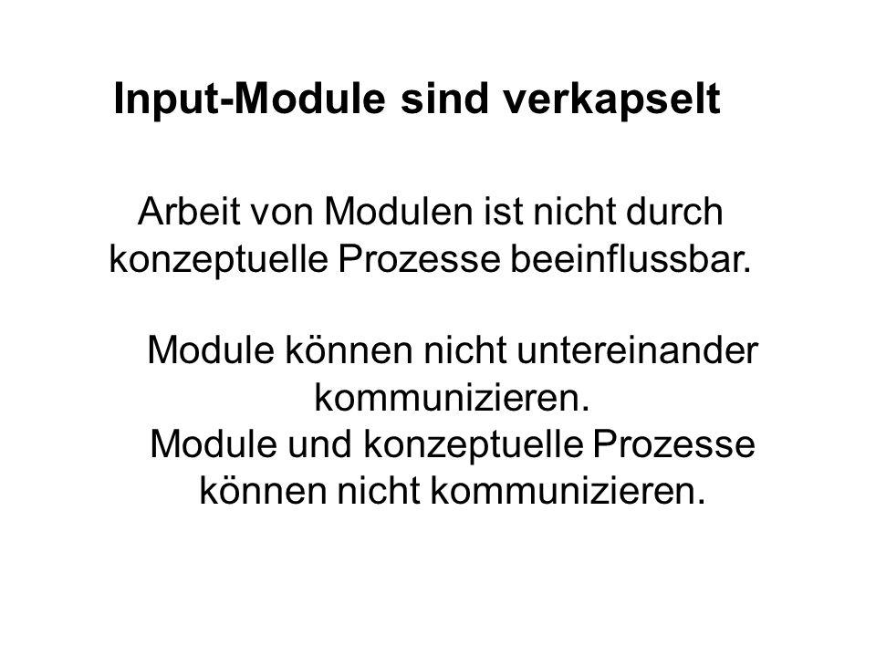 Input-Module sind verkapselt