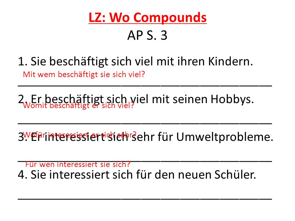 LZ: Wo Compounds AP S. 3