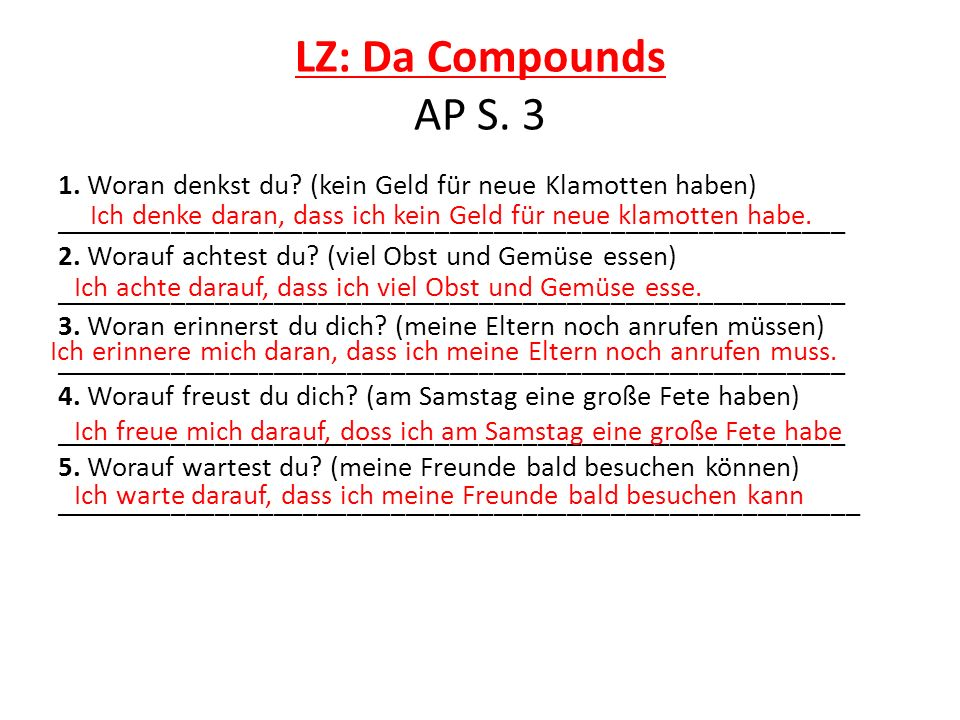 LZ: Da Compounds AP S. 3