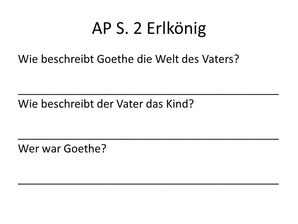 AP S. 2 Erlkönig