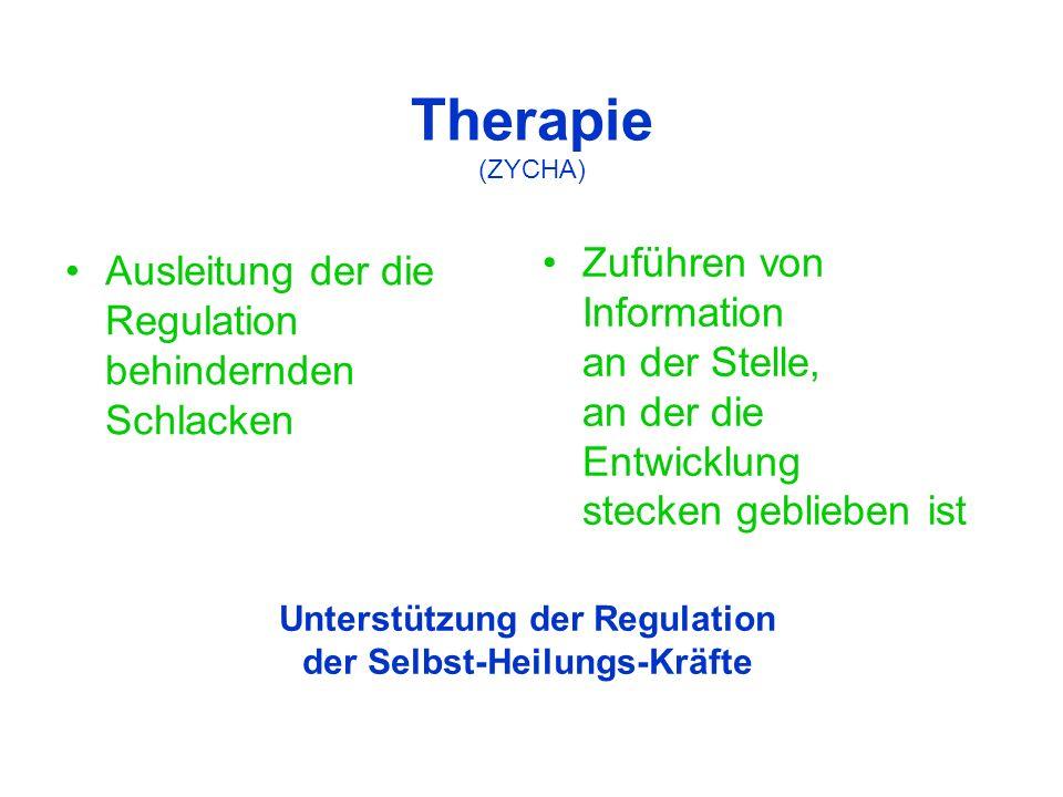 Unterstützung der Regulation der Selbst-Heilungs-Kräfte