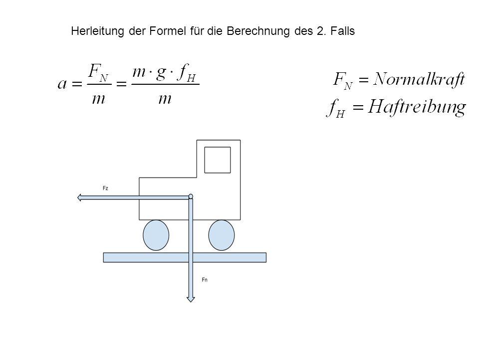 Herleitung der Formel für die Berechnung des 2. Falls
