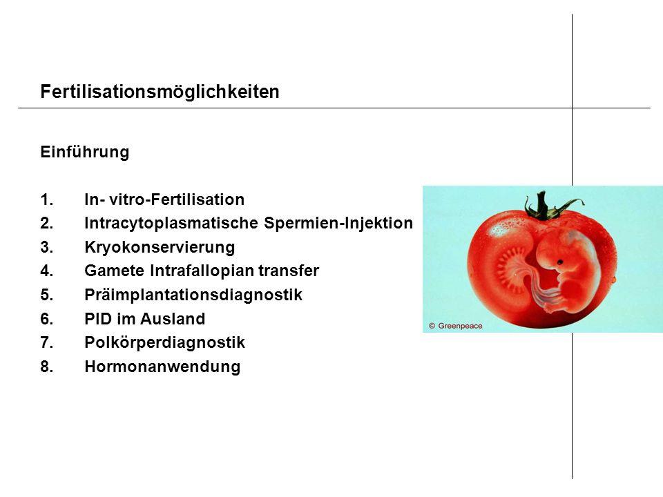 Fertilisationsmöglichkeiten