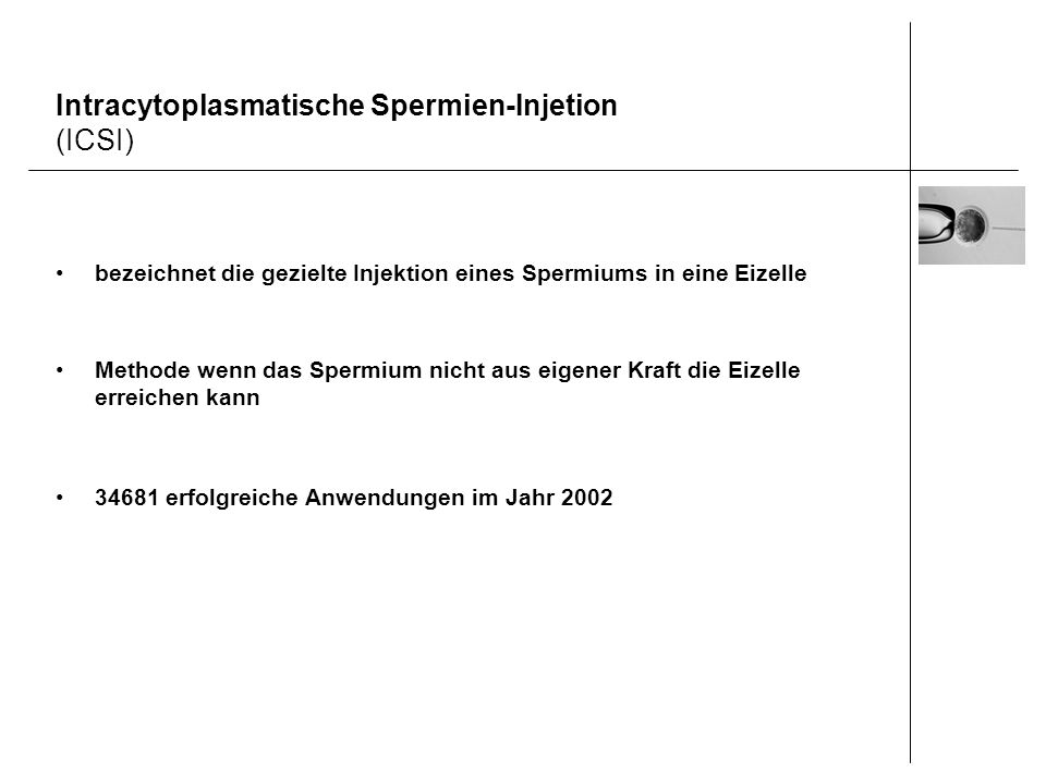 Intracytoplasmatische Spermien-Injetion (ICSI)