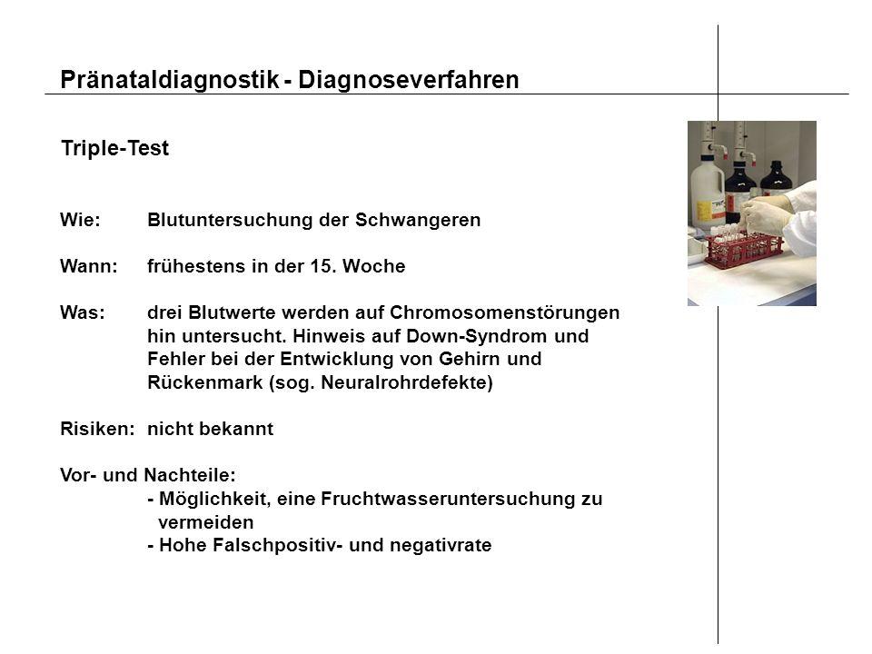 Pränataldiagnostik - Diagnoseverfahren