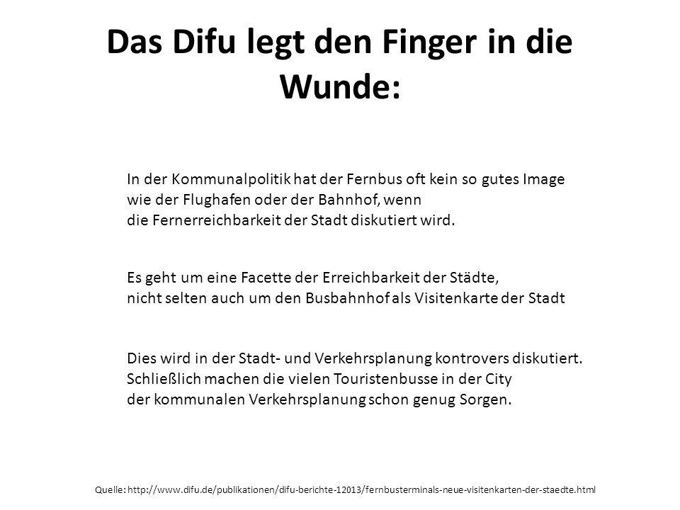 Das Difu legt den Finger in die Wunde: