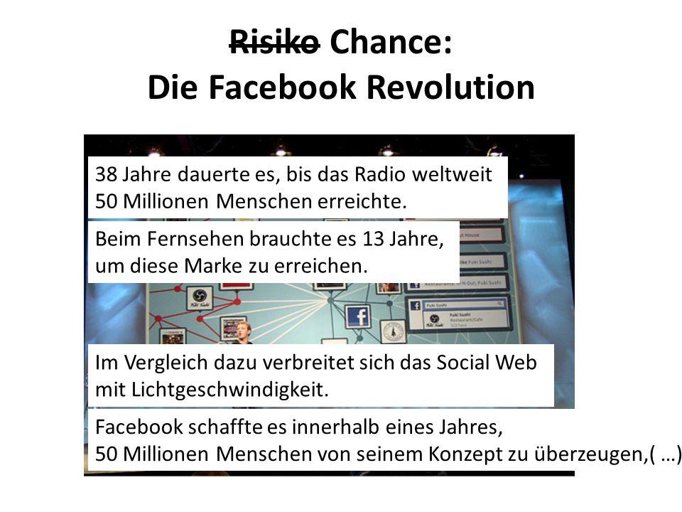 Risiko Chance: Die Facebook Revolution