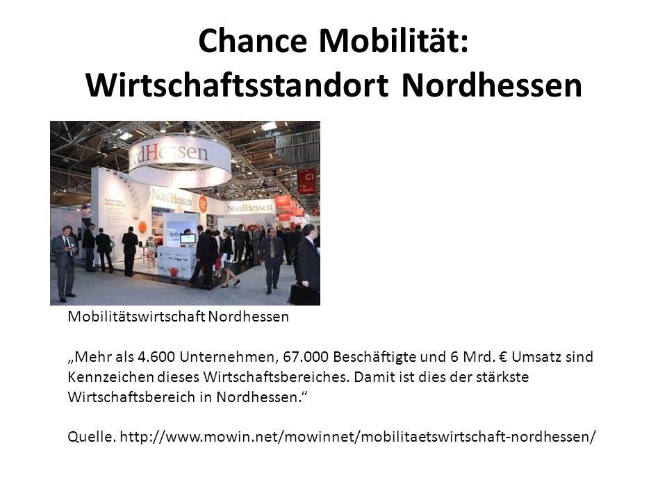 Chance Mobilität: Wirtschaftsstandort Nordhessen