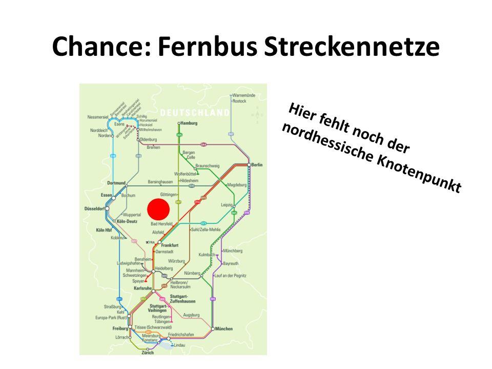 Chance: Fernbus Streckennetze