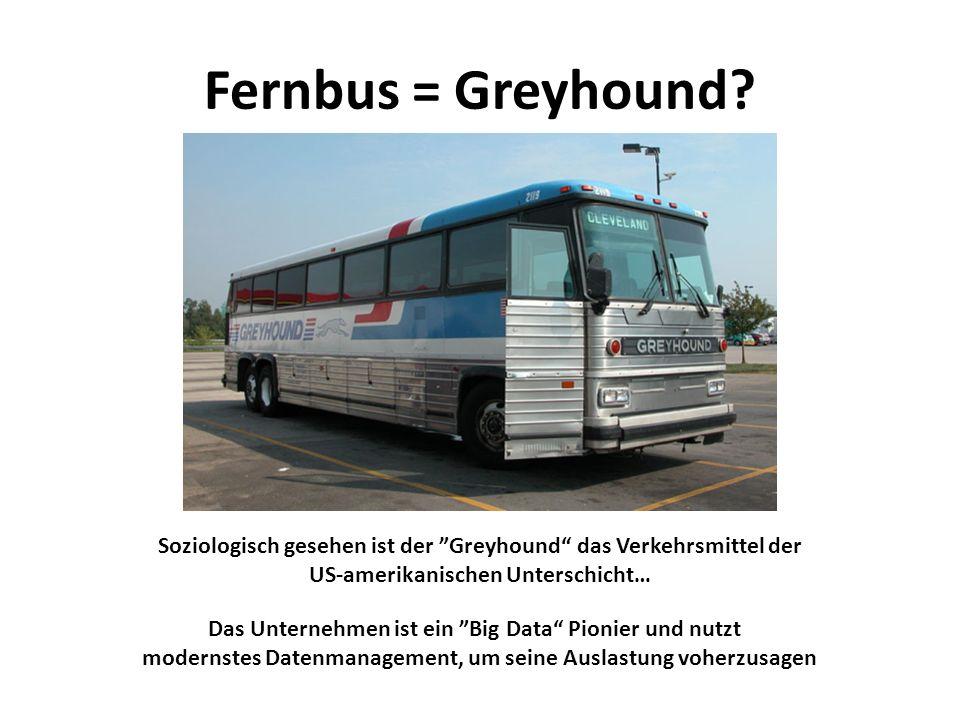 Fernbus = Greyhound Soziologisch gesehen ist der ˮGreyhound das Verkehrsmittel der US-amerikanischen Unterschicht…