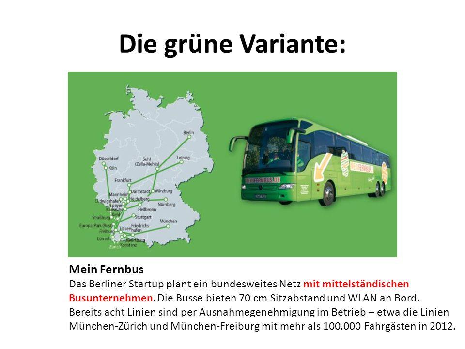 Die grüne Variante: Mein Fernbus
