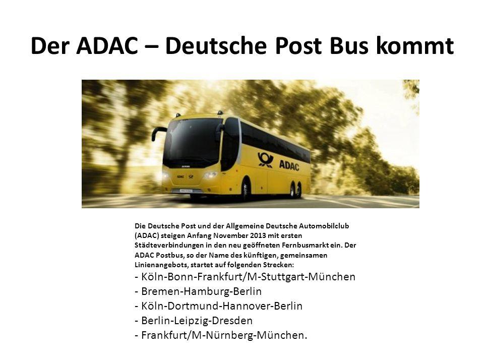 Der ADAC – Deutsche Post Bus kommt